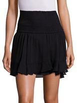 A.L.C. Vera Silk Tiered Ruffle Skirt