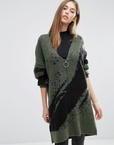 Selected Oversized Cardigan with Zip
