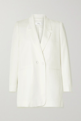 Anine Bing Madeline Lyocell, Linen And Cotton-blend Blazer - Ivory