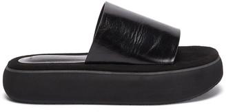 Osoi Boat' Platform Leather Sandals