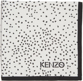 Kenzo Black 'K' Print Pocket Square