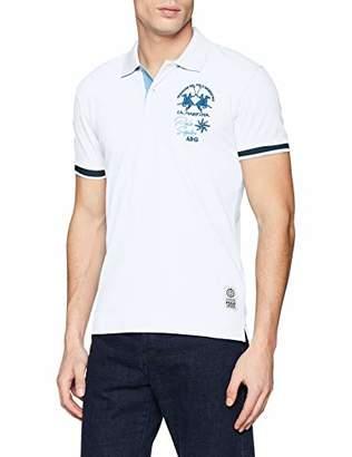 La Martina Men's Man Polo S/s Piquet Stretch Shirt, (Garden Green 03113)