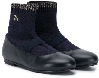 Bonpoint Leather Sock Shoes