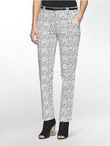 Calvin Klein Womens Essential Skinny Speckle Print Pants