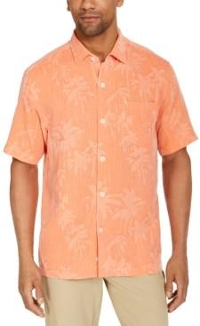 Tommy Bahama Men's Digital Palms Silk Short Sleeve Camp Shirt, Created for Macy's