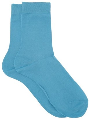 Falke Cotton Touch Cotton-blend Socks - Womens - Light Blue