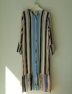 Mads Norgaard Colorful Strip Dress - XS (0)