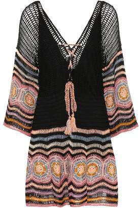 Anna Kosturova Carly crochet cotton minidress