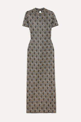 Paco Rabanne Metallic Jacquard-knit Maxi Dress - Gold