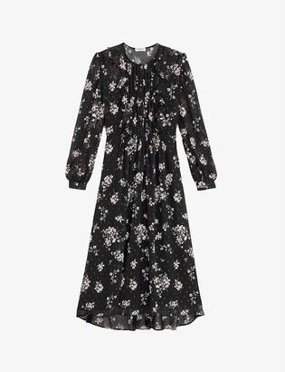 Claudie Pierlot Rikki floral-print crepe midi dress