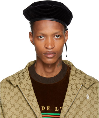 Gucci Black Velvet Beret