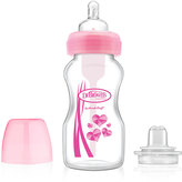 Dr Browns Pink Wide-Neck 9-Oz. Baby Bottle Transition Kit