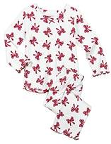 Sara's Prints Baby Girls Cozy Ruffled Relaxed Fit Pajama Set