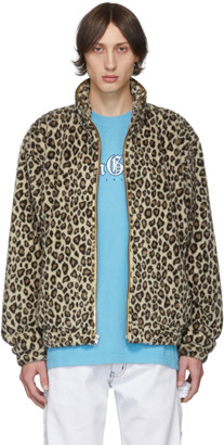 Noon Goons Beige and Brown Leopard Gold Jacket