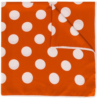 Holland & Holland Dotted Silk Scarf