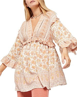Free People Moonlight Dance Printed Dress