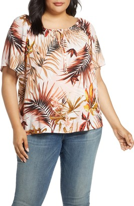Estelle Destination Tropical Print Top