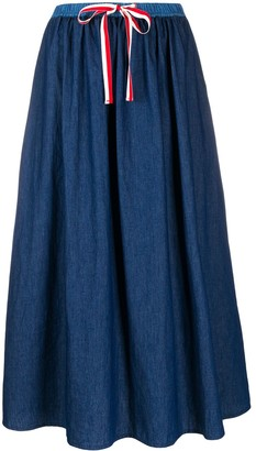 Semi-Couture Semicouture drawstring-waist denim skirt