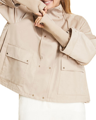 Marina Rinaldi Plus Size Tribu Funnel-Neck Short Trench Coat