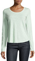 Eileen Fisher Long-Sleeve Organic Slub Jersey Tee
