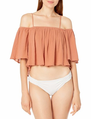 Seafolly Women's Off The Shoulder Ruffle Cover Up Top
