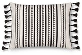 "Mudhut Maison Decorative Pillow (14""x18"") Black&White"