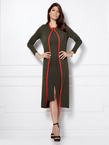Eva Mendes Collection - Cosi Contrast-Trim Knit Duster