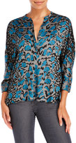 Zadig & Voltaire Tara Leopard Print Woven Blouse