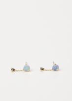 Wwake Yellow Gold / Black Diamond Large Two-step Chain Earrings