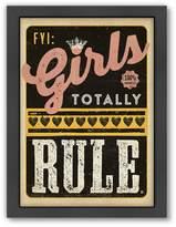 "Americanflat ""Girls Rule"" Framed Wall Art"