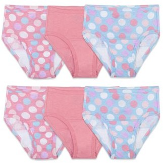Fruit of the Loom Assorted Potty Training Pants, 6 Pack (Toddler Girls)