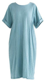 Paisie Selsey Relaxed Fit Dress Teal - 8