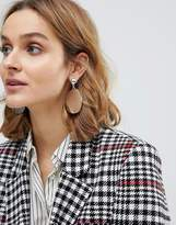 Asos Cut Disc Drop Earrings