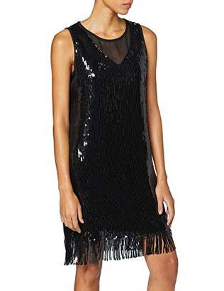 Comma Women's 81.911.82.5263 Party Dress, (Black 9999), (Herstellergröße: 44)
