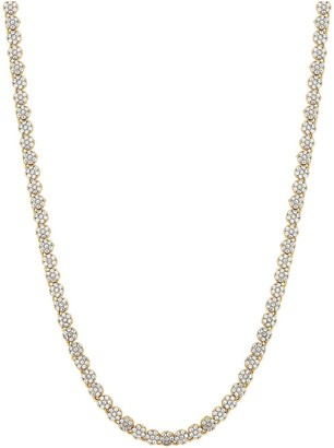 Jon Richard Bridal Gold Plated Fine Pave Allway Tennis Necklace
