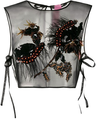 Schumacher Dorothee silk embellished sleeveless top
