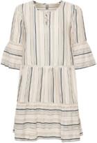 Culture Striped Beige Cuebru Dress - XS