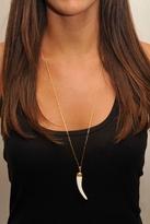 "Heather Gardner Gold-Filled 36"" Tusk Necklace in Ivory"