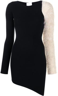 Antonella Rizza Lurex-Detail Asymmetric Dress