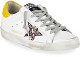 Golden Goose Superstar Mixed Leather Low-Top Sneakers