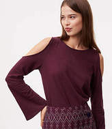 LOFT Cold Shoulder Bell Sleeve Tee