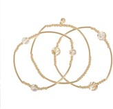 Lauren Conrad Flecked Beaded Stretch Bracelet Set