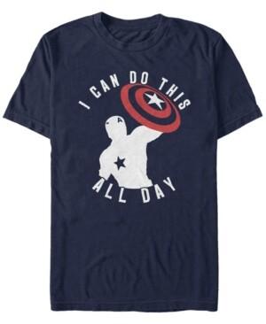 Marvel Men's Avengers Endgame Captain America I Can Do This All Day, Short Sleeve T-shirt