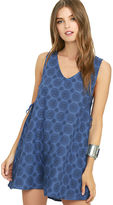Lucy-Love Lucy Love Sundial Blue Print Shift Dress