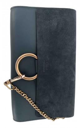 Chloé Faye Navy Leather Clutch bags