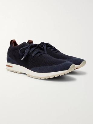 Loro Piana 360 Flexy Walk Leather-Trimmed Knitted Wish Wool Sneakers
