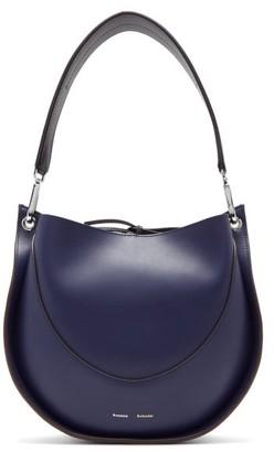Proenza Schouler Hobo Small Leather Shoulder Bag - Dark Blue