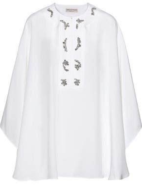 Emilio Pucci Crystal-embellished Silk Crepe De Chine Cape