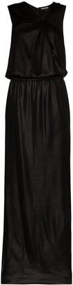 Tom Ford Asymmetric Halterneck Silk Evening Gown