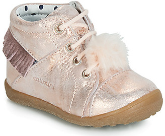 Catimini PEPITA girls's Shoes (High-top Trainers) in Pink
